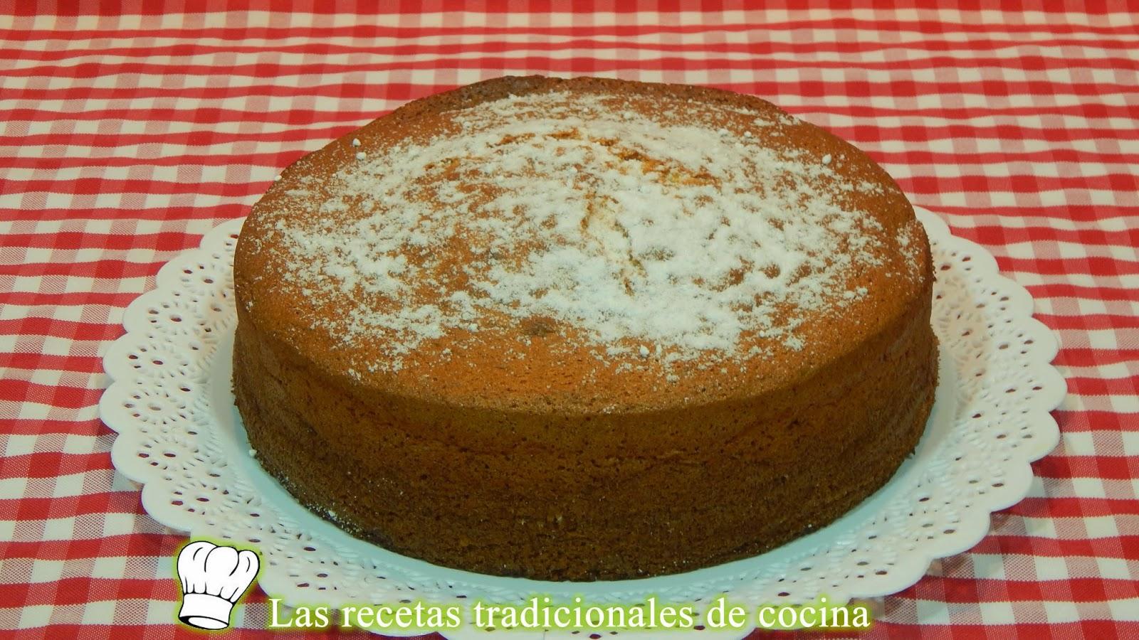 receta de bizcochuelo de almendras esponjoso