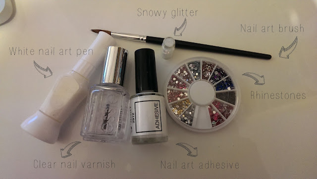 A collection of nail art utensils