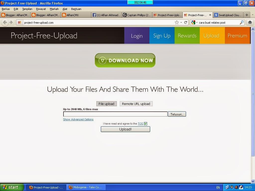 Cara Download di Project Free Upload.com