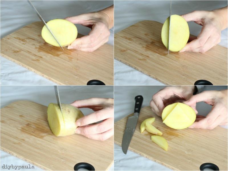 Estampar con patata