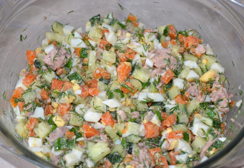 Салат из печени трески: все перемешать