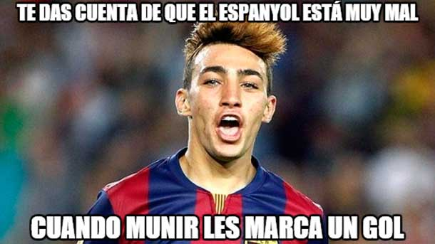 """El mejor """"meme"""" del encuentro entre Espanyol y FC Barcelona"""