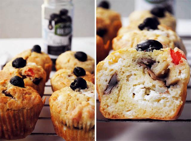 Muffinki wytrawne z serem feta