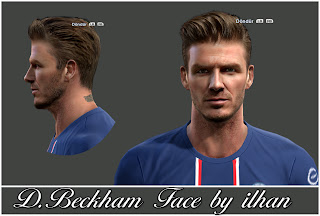 Download David Beckham Face PES 2013 by Ilhan
