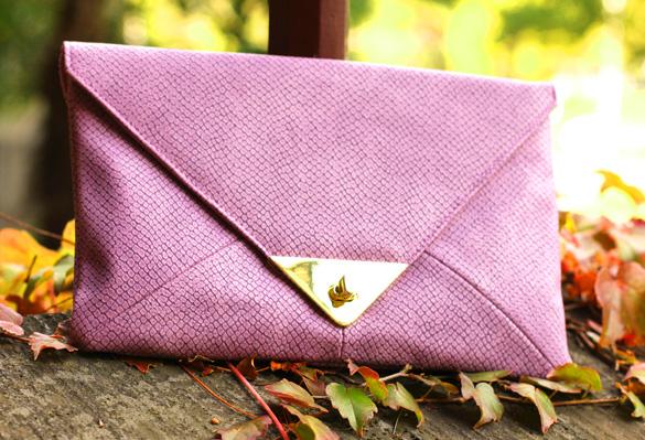 Lilac ASOS Clutch
