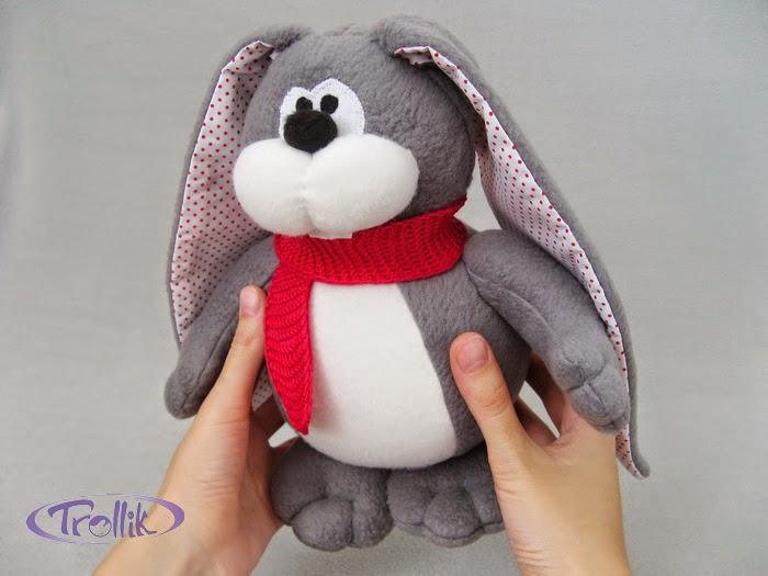 заяц авторская мягкая игрушка из флиса