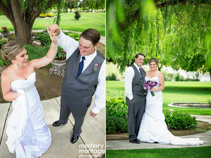 Jake and Lexie Humphreys Promise Garden Wedding Pasco WA