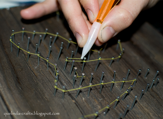 Beautifully Contained: Heart String Art