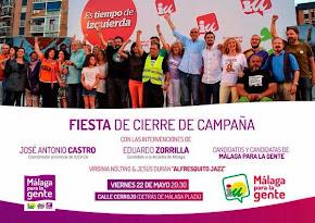 Fiesta cierre de campaña Málaga para la Gente