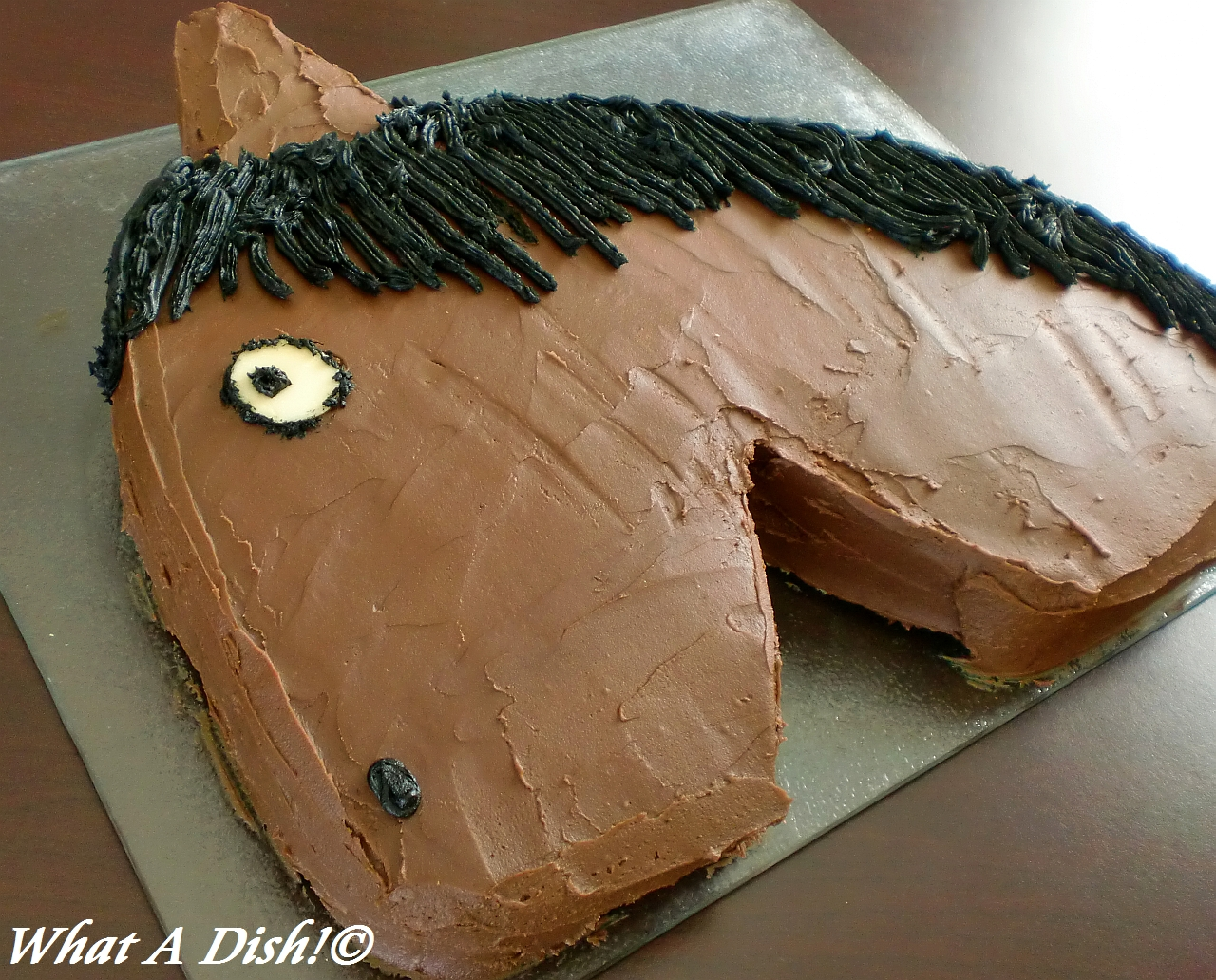 What A Dish Horse Birthday Cake