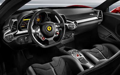 2012 Ferrari 458 Italia interior.