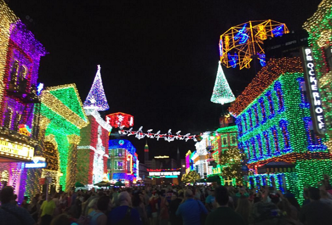 Disney World Recap - Hollywood Studios Christmas Lights