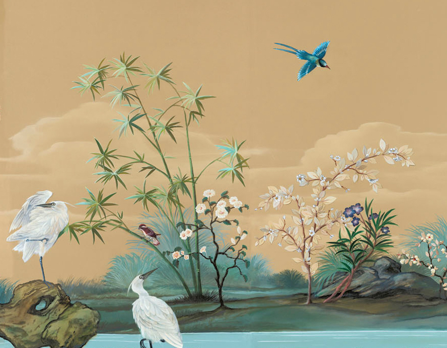 Let 39 s keep it wild french from chinese chinoiserie for Designer wallpaper mural