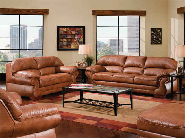 Living Rooms with Brown Leather Furniture