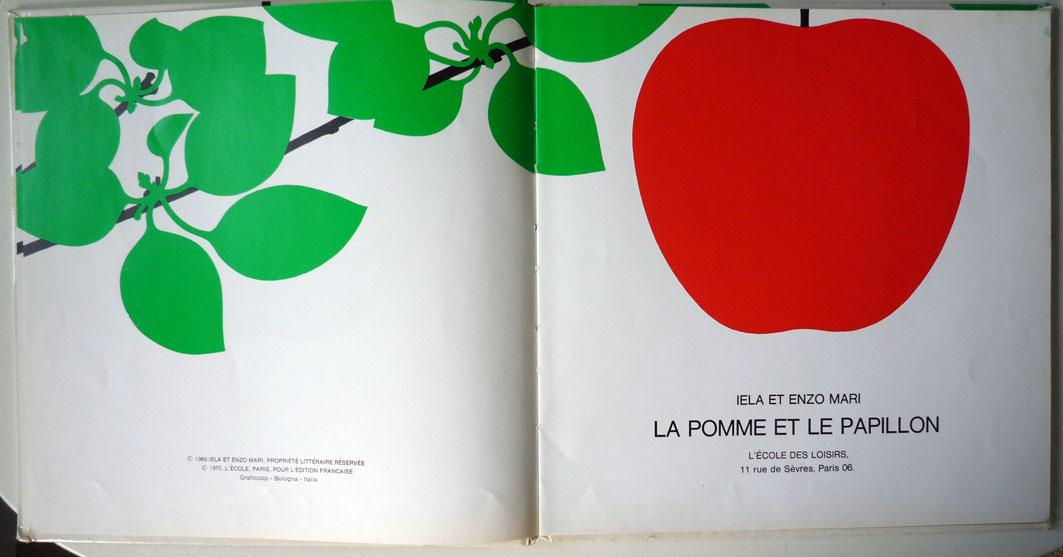 Larousse liaudet lithographie la pomme et le papillon - Pomme papillon ...