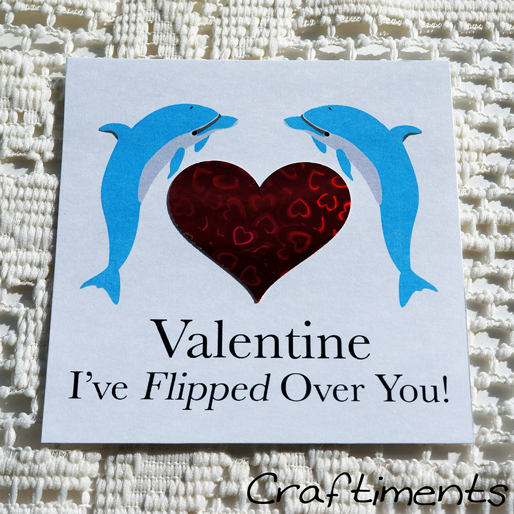 Craftiments:  Printable dolphin valentines