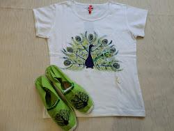 Conjunto Pavo verde