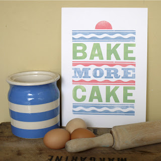 print for love of wood letterpress cake baking handmade
