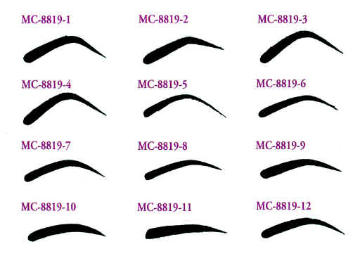 eyebrow stencils for round face. if your hair is lighter, you want to fill in eyebrows with a color that 2 shades darker than hair. eyebrow stencils for round face e
