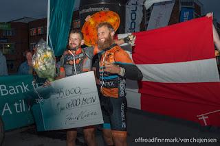 Esben Hauerbach Kronborg, Erik Skovgaard Knudsen, Offroad Finnmark. Foto: Venche Jensen
