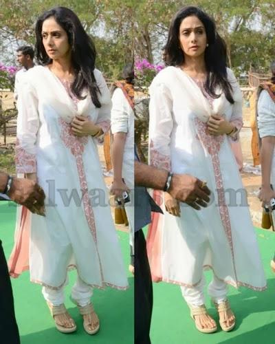 Sridevi Kapoor White Salwar