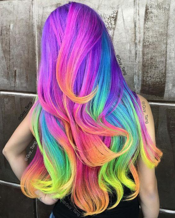 Crazy Rainbow Hairstyles The Haircut Web