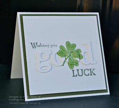 Card made with Lucky Day from Stampin' Up