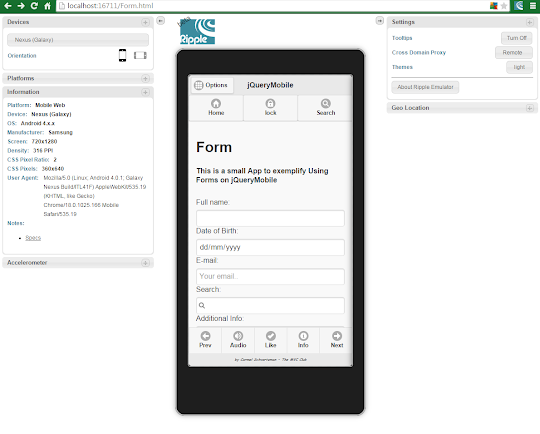 create a jQuery Mobile Form