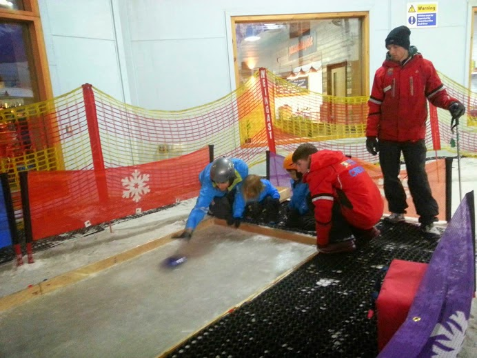 Chill Factore Manchester Snow Play children's curling rink