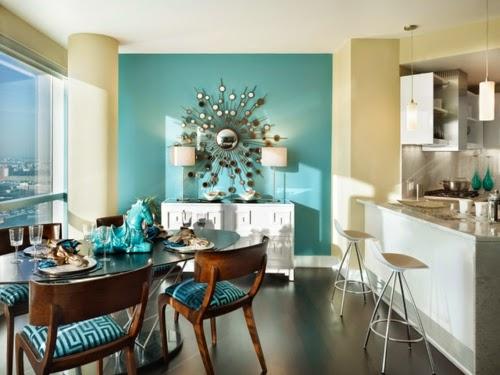 comedores de color turquesa colores en casa