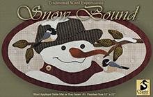 """Snow Bound Wool Applique Mat 12"""" x 22"""""""