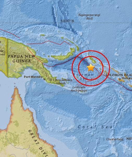 Magnitude 5.0 Earthquake of Panguna, Papua New Guinea 2015-05-13
