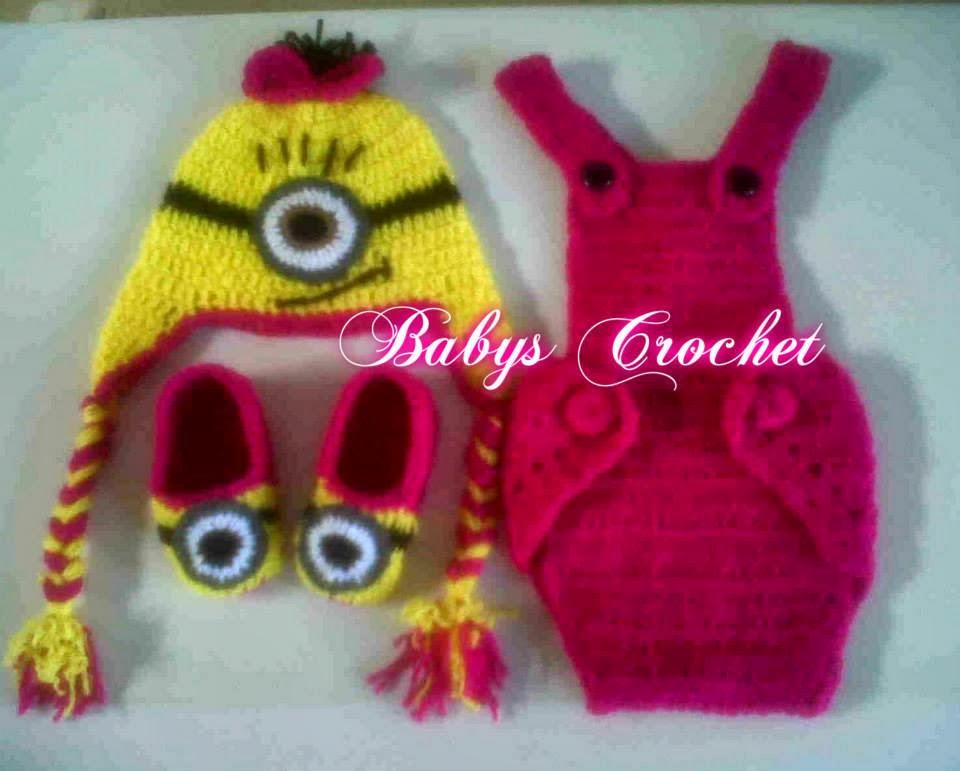crochet gorros y trajecitos de minions para niños y niñas gorros ...