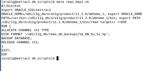 Apps DBA Workshop: rman backup script in crontab
