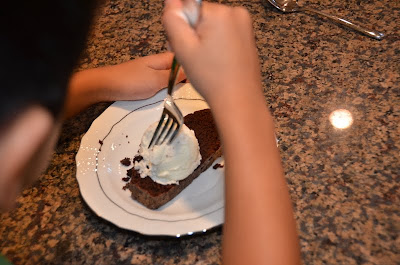 ... and i enjoyed our slice of after the storm everyday chocolate cake