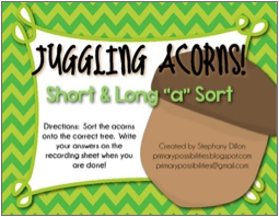 http://www.teacherspayteachers.com/Product/Acorn-Sort-Short-and-Long-A-254630