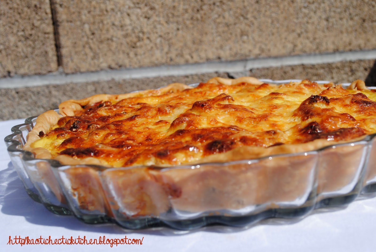 my kaotic kitchen: roasted cauliflower and caramelized onion tart