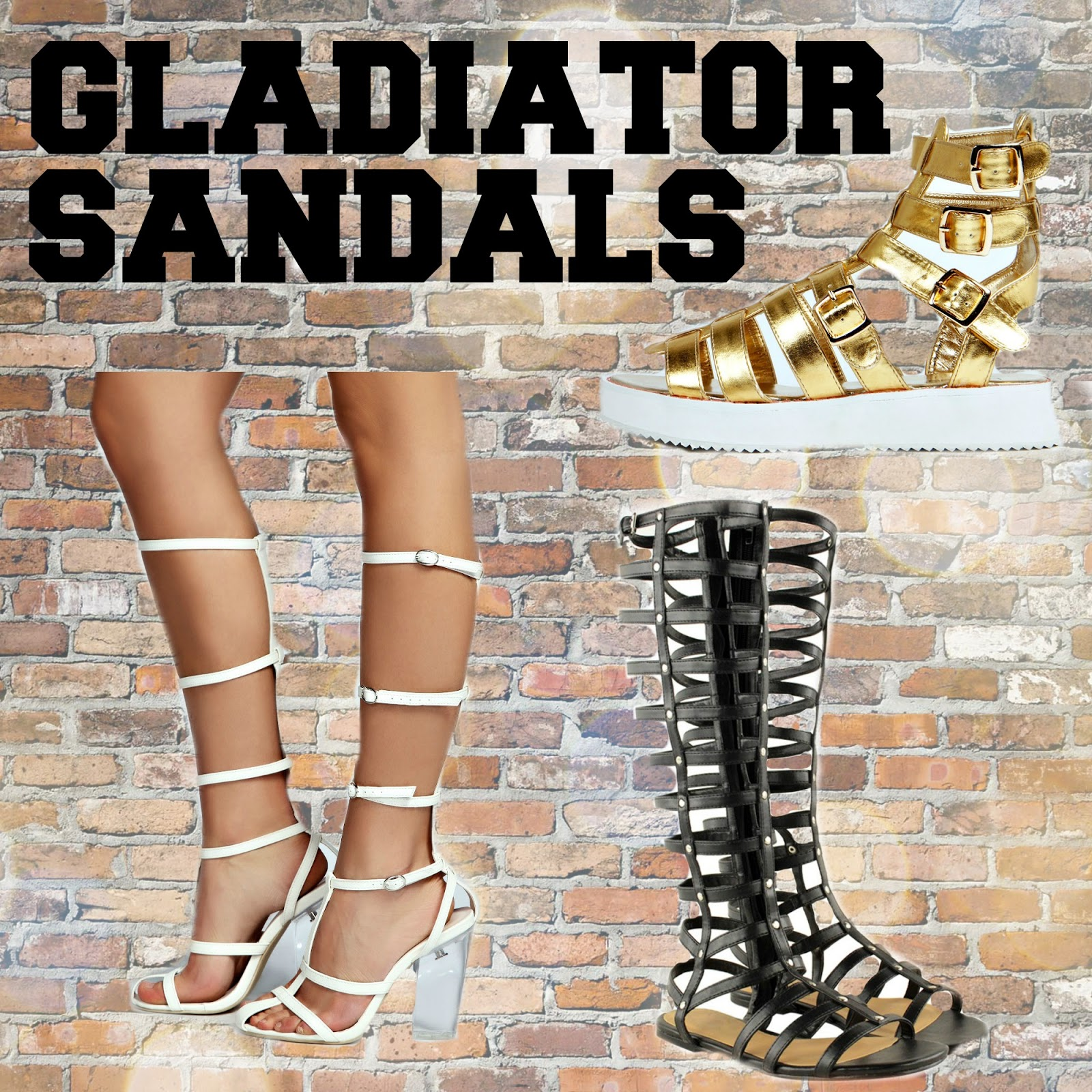 SS14 essentials gladiator sandals boohoo.com heelberry