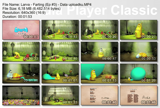Video LARVA Episode #3 Farting (Kentut)