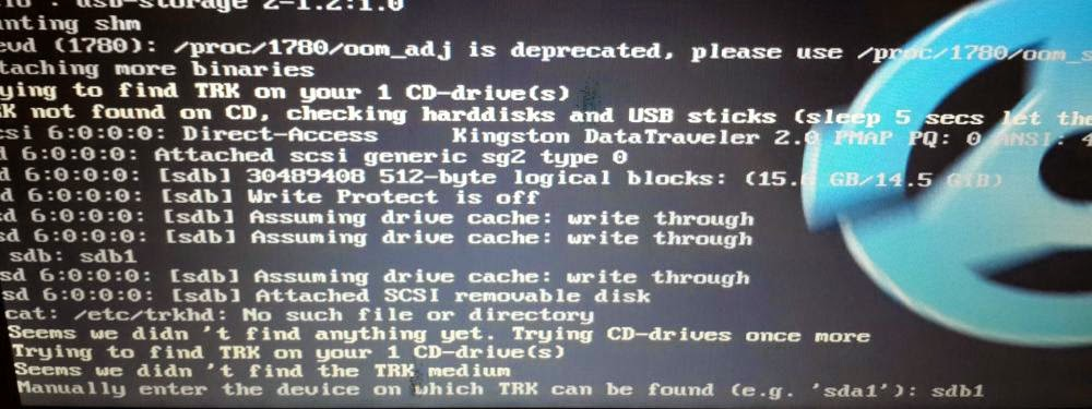 Data recovery with linux live cd