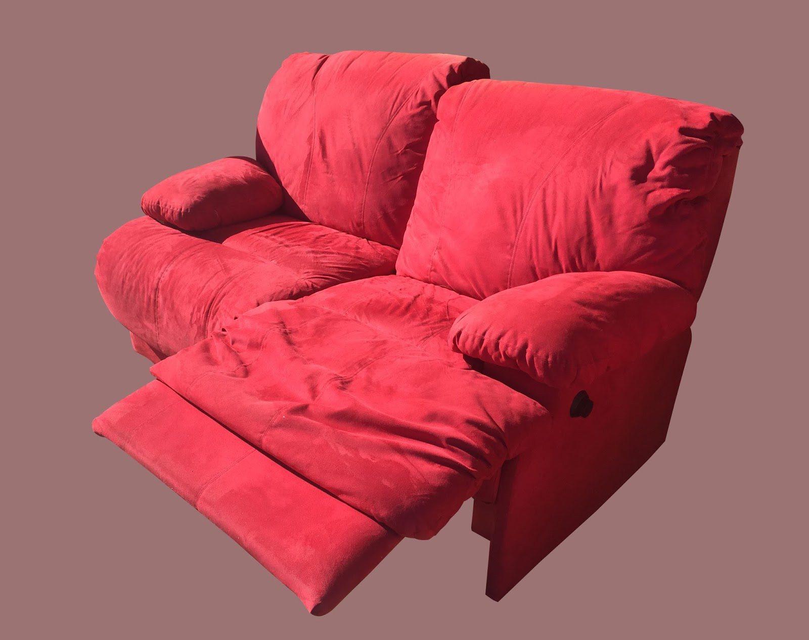 Uhuru Furniture Collectibles Red Microfiber Recliner
