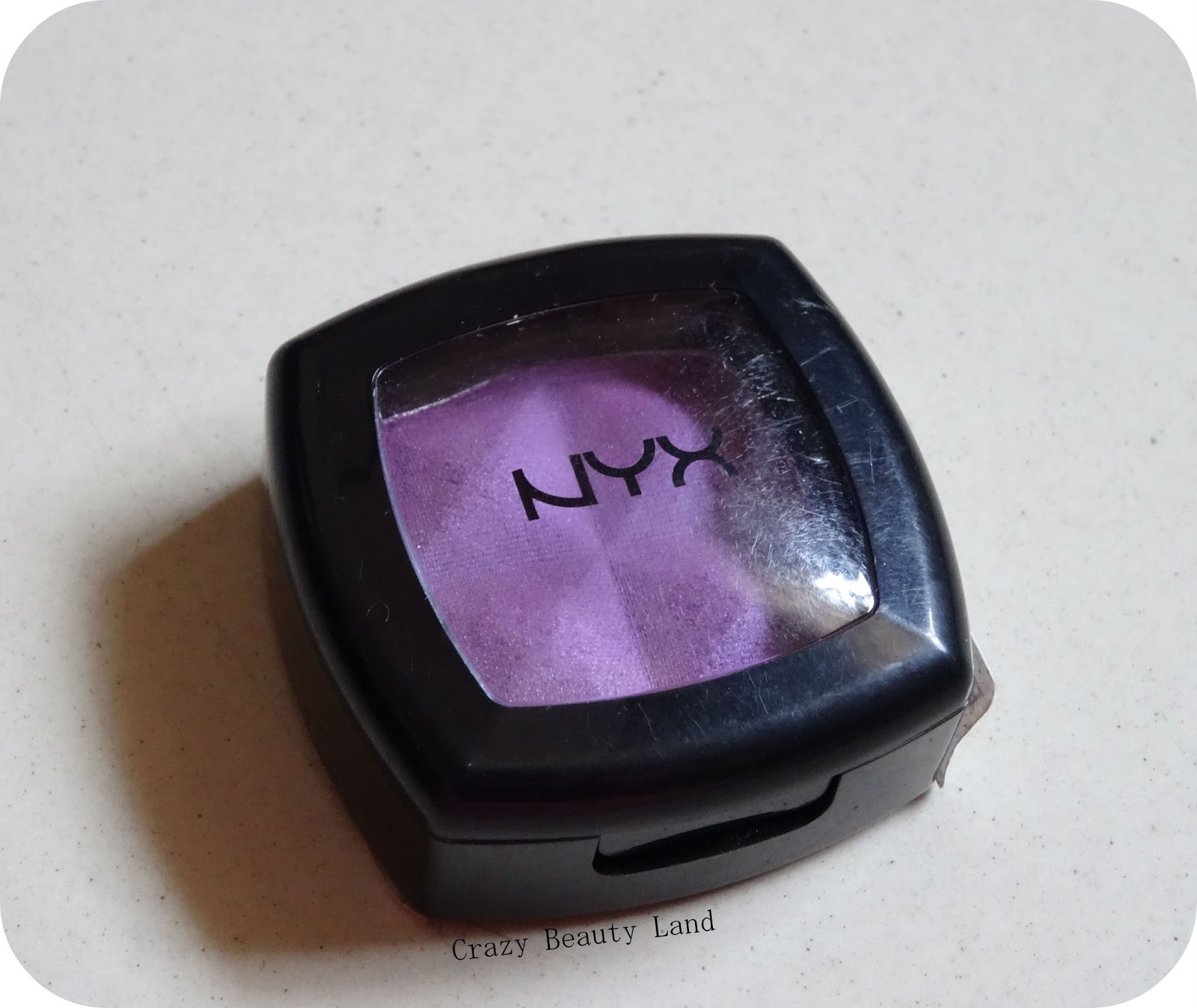 NYX Single Eye Shadow in Purple (ES32) Review