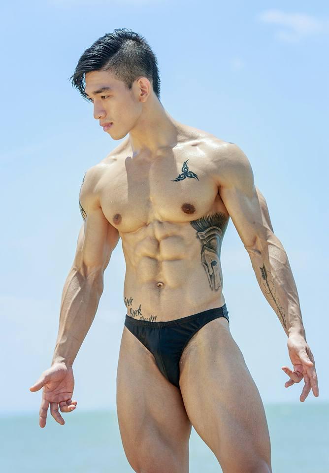 Got maximum asian male muscle the