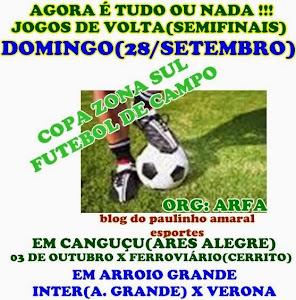 FUTEBOL DE CAMPO DA ARFA/SEMIFINAIS