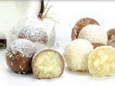 Beijinho diet com cobertura de chocolate