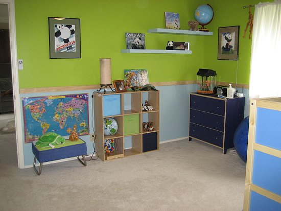 home interior and exterior design concept kids room paint