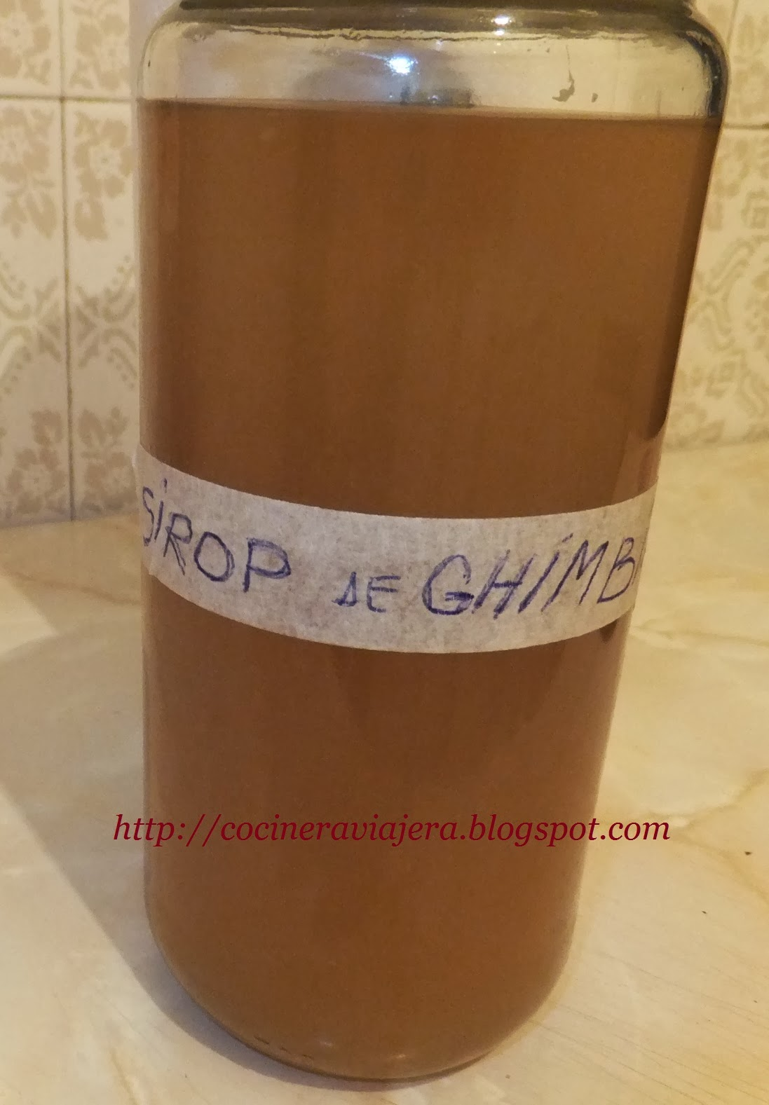Sirop de ghimbir/Ginger syrup