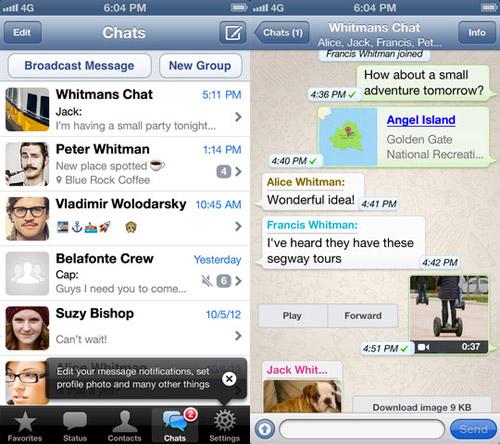 app WhatsApp reveals a different economic model