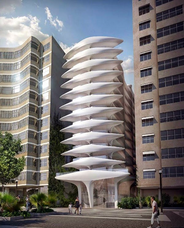 The style examiner zaha hadid unveils first building in for Hotel rio milano