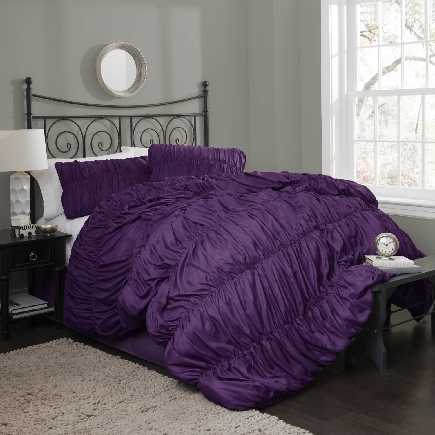 total fab ruched bedding and comforter sets. Black Bedroom Furniture Sets. Home Design Ideas
